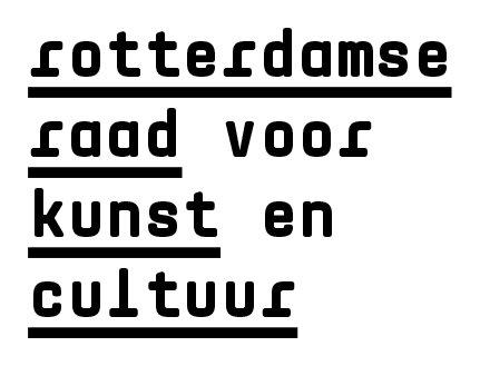 Logo van subsidiënt Rotterdamse Raad voor Kunst en Cultuur